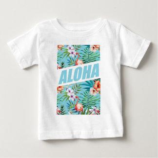 Wellcoda Aloha Hawaii Beach Wild Flamingo Baby T-Shirt