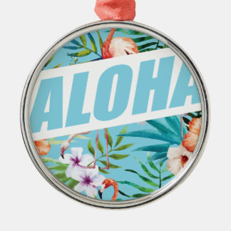 Wellcoda Aloha Hawaii Beach Wild Flamingo Christmas Ornament