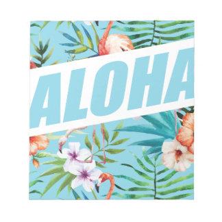 Wellcoda Aloha Hawaii Beach Wild Flamingo Notepad