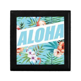 Wellcoda Aloha Hawaii Beach Wild Flamingo Small Square Gift Box
