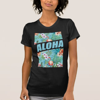 Wellcoda Aloha Hawaii Beach Wild Flamingo Tees