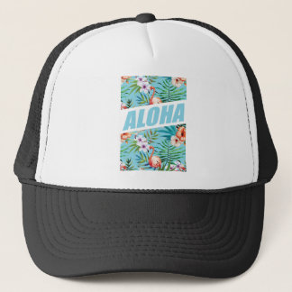 Wellcoda Aloha Hawaii Beach Wild Flamingo Trucker Hat