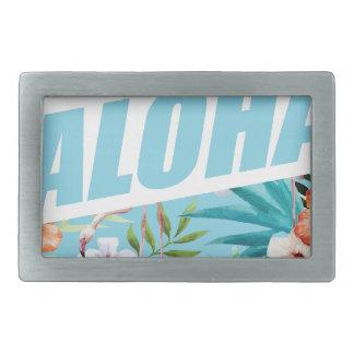 Wellcoda Aloha Summer Flamingo Holiday Belt Buckle