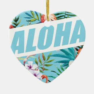 Wellcoda Aloha Summer Flamingo Holiday Christmas Ornament