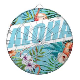 Wellcoda Aloha Summer Flamingo Holiday Dartboard