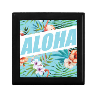 Wellcoda Aloha Summer Flamingo Holiday Gift Box
