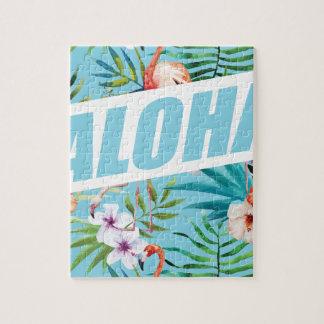 Wellcoda Aloha Summer Flamingo Holiday Jigsaw Puzzle