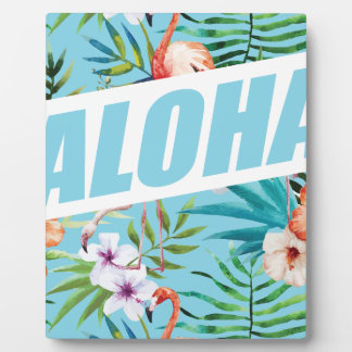Wellcoda Aloha Summer Flamingo Holiday Plaque