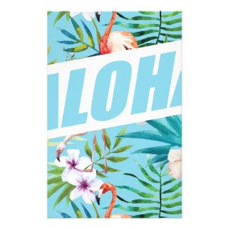 Wellcoda Aloha Summer Flamingo Holiday Stationery