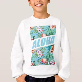 Wellcoda Aloha Summer Flamingo Holiday Sweatshirt