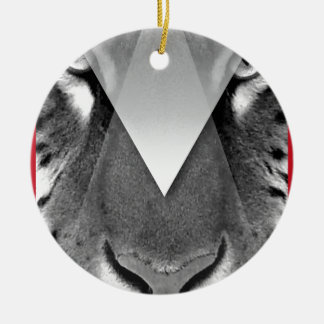 Wellcoda Amazing Tiger Cat Face Wild Life Christmas Ornament