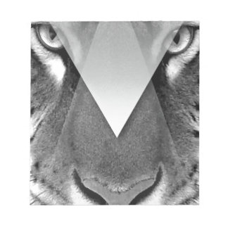 Wellcoda Amazing Tiger Cat Face Wild Life Notepad