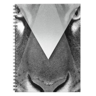 Wellcoda Amazing Tiger Cat Face Wild Life Spiral Notebook