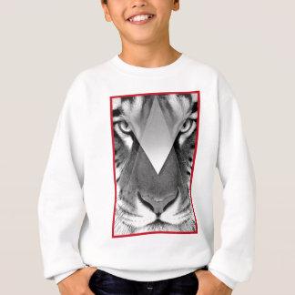 Wellcoda Amazing Tiger Cat Face Wild Life Sweatshirt