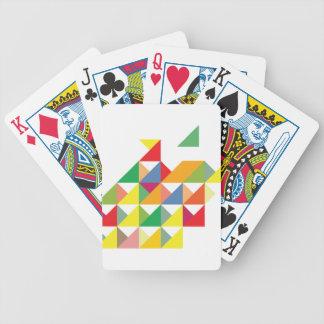 Wellcoda Amazing Triangle Print Hypnotic Bicycle Playing Cards
