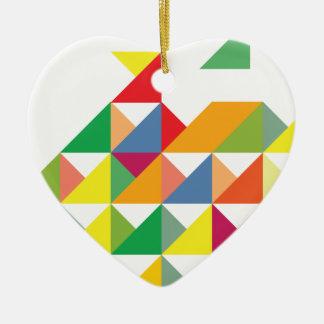 Wellcoda Amazing Triangle Print Hypnotic Ceramic Heart Decoration