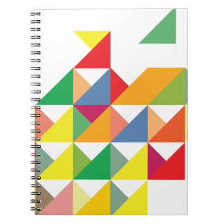 Wellcoda Amazing Triangle Print Hypnotic Notebook