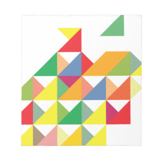 Wellcoda Amazing Triangle Print Hypnotic Notepads