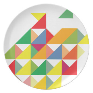 Wellcoda Amazing Triangle Print Hypnotic Plate