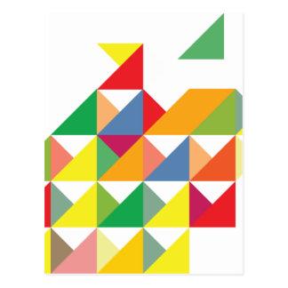 Wellcoda Amazing Triangle Print Hypnotic Postcard