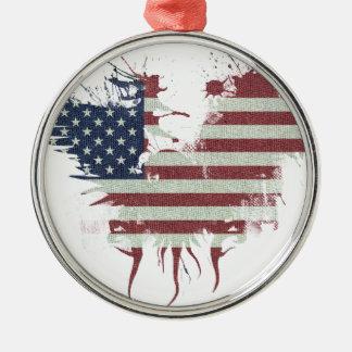 Wellcoda American Eagle Flag USA Identity Christmas Ornament