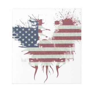 Wellcoda American Eagle Flag USA Identity Notepad
