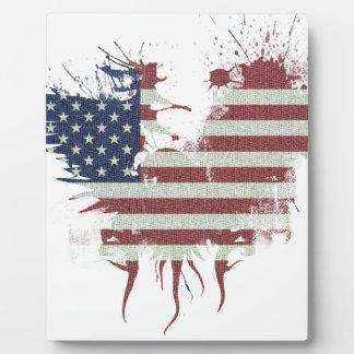 Wellcoda American Eagle Flag USA Identity Plaque