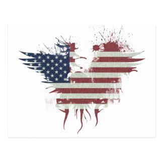 Wellcoda American Eagle Flag USA Identity Postcard