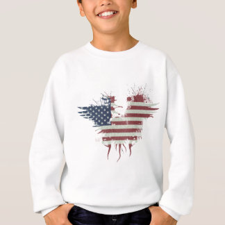 Wellcoda American Eagle Flag USA Identity Sweatshirt