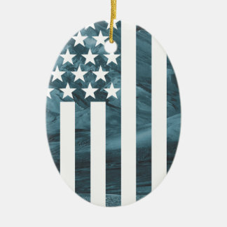 Wellcoda American Free Eagle USA Dream Ceramic Oval Decoration