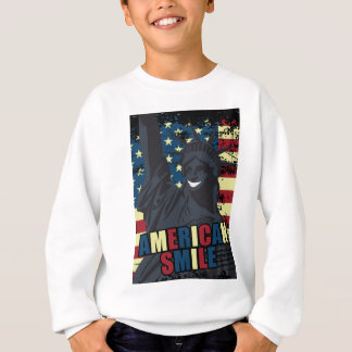Wellcoda American Smile Funny Happy Crazy Sweatshirt