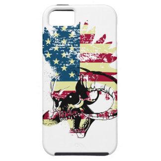 Wellcoda American USA Skull Horror Flag iPhone 5 Case