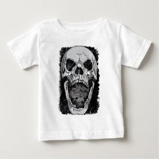 Wellcoda Angry Skull Reaper Skeleton Bone Baby T-Shirt
