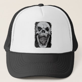 Wellcoda Angry Skull Reaper Skeleton Bone Trucker Hat