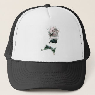 Wellcoda Animal Cat Playful Kitty Cute Trucker Hat