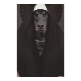 Wellcoda Animal Dog Sister Nun Pet Funny Personalised Stationery
