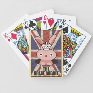 Wellcoda Animal Great Rabbit GB UK Cute Bicycle Playing Cards