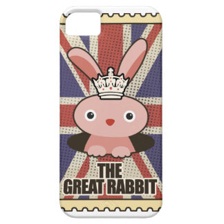 Wellcoda Animal Great Rabbit GB UK Cute Case For The iPhone 5