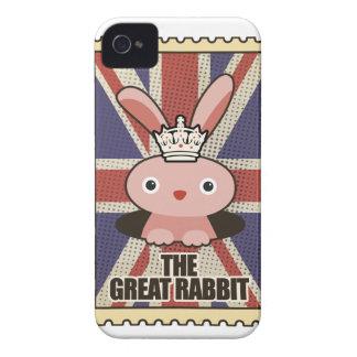 Wellcoda Animal Great Rabbit GB UK Cute Case-Mate iPhone 4 Cases