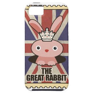 Wellcoda Animal Great Rabbit GB UK Cute iPhone 5 Cover