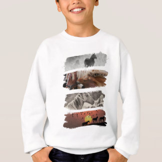Wellcoda Animal Horse Family Wildlife Sweatshirt