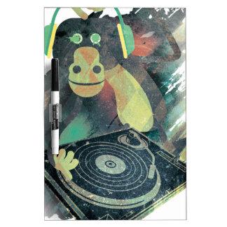 Wellcoda Animal Monkey Music DJ Disco Pop Dry Erase White Board