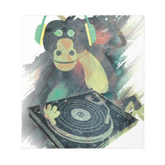 Wellcoda Animal Monkey Music DJ Disco Pop Notepad