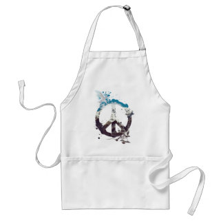 Wellcoda Animal Peace and Love Bird Life Standard Apron