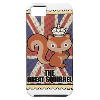Wellcoda Animal Squirrel GB Great Britain Case For The iPhone 5