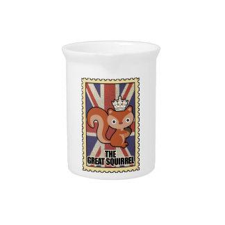 Wellcoda Animal Squirrel GB Great Britain Pitcher