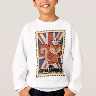 Wellcoda Animal Squirrel GB Great Britain Sweatshirt