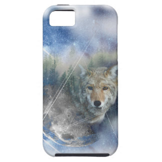 Wellcoda Animal Wolf Galaxy Fantasy Zoo Case For The iPhone 5