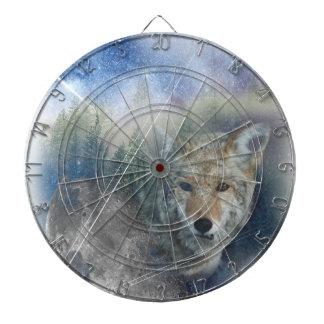 Wellcoda Animal Wolf Galaxy Fantasy Zoo Dartboard