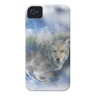 Wellcoda Animal Wolf Galaxy Fantasy Zoo iPhone 4 Cover